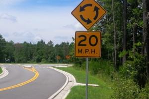 Caution/Speed Limit Sign